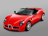 Alfa Romeo 8C Spider Concept (2005) wallpapers