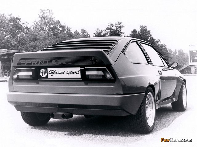 Alfa Romeo Alfasud Sprint 6C Prototype 1 902 (1982) images (640 x 480)