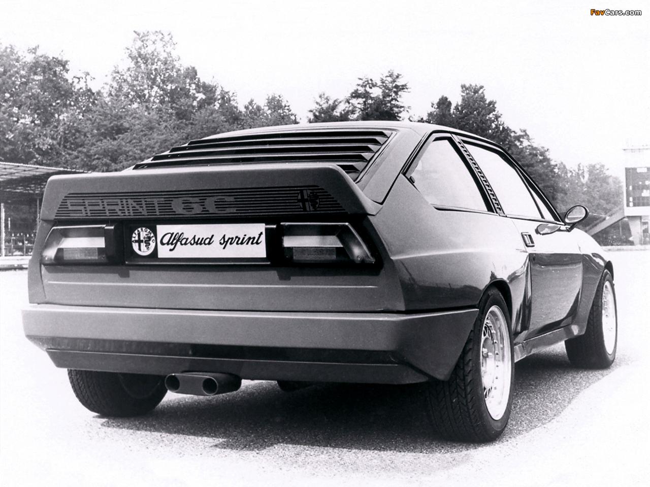 Pictures of Alfa Romeo Alfasud Sprint 6C Prototype 1 902 (1982) (1280 x 960)