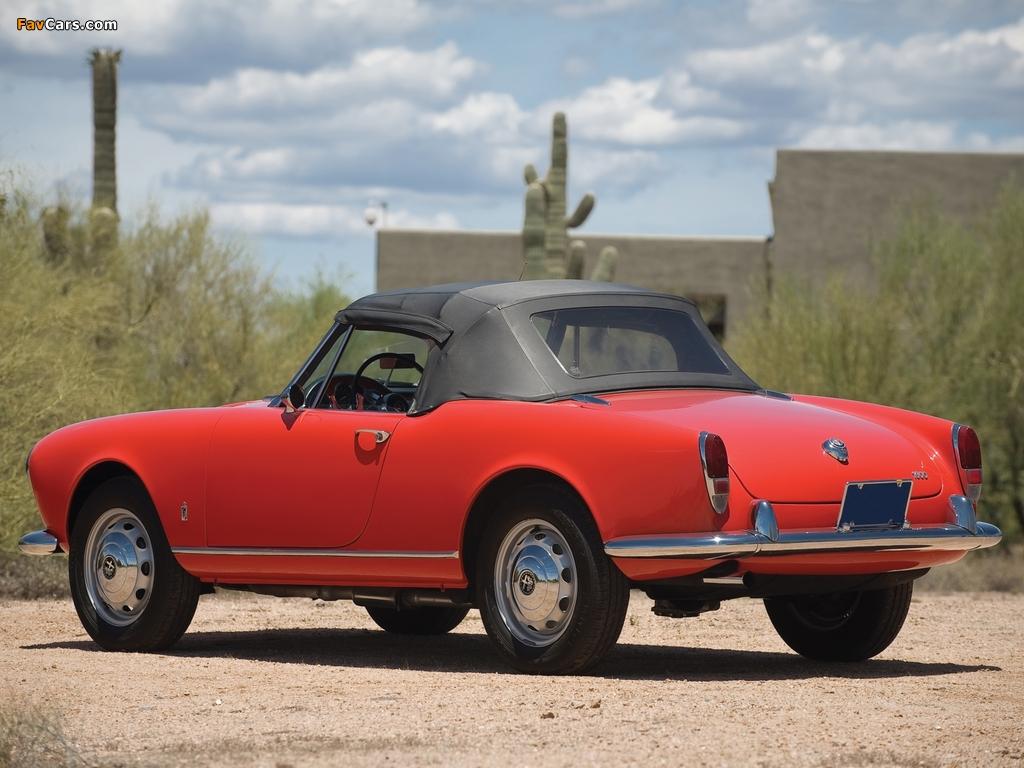 Alfa Romeo Giulia >> Alfa Romeo Giulia 1600 Spider 101 (1962–1965) images (1024x768)