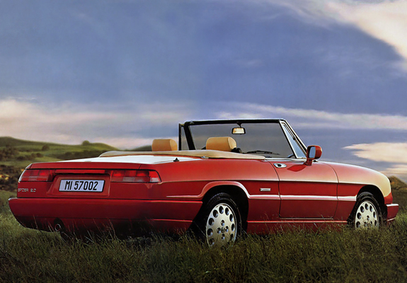 alfa romeo spider 115 1990 1993 wallpapers. Black Bedroom Furniture Sets. Home Design Ideas