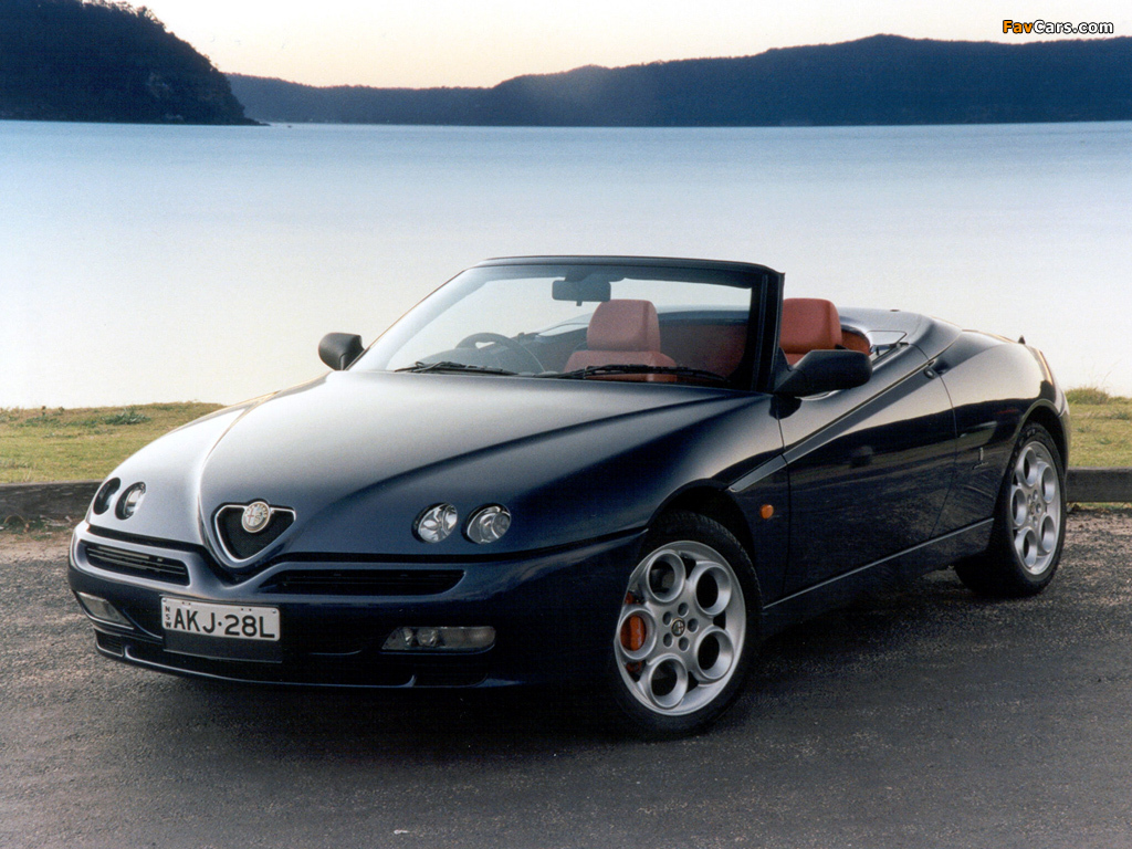 alfa romeo spider au spec 916 1998 2003 wallpapers. Black Bedroom Furniture Sets. Home Design Ideas
