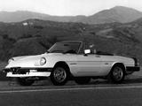 Photos of Alfa Romeo Spider Veloce US-spec 115 (1983–1990)