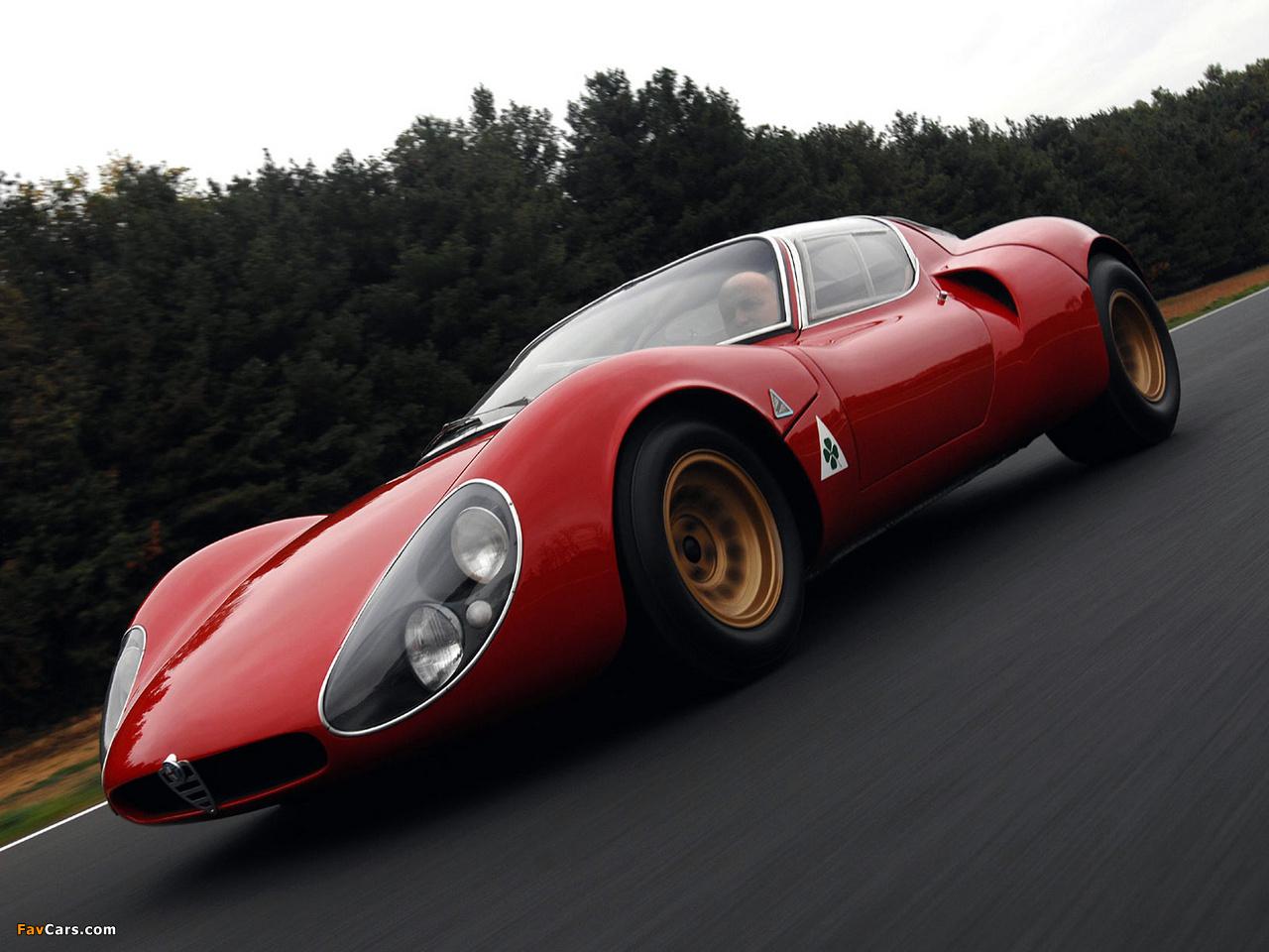Alfa Romeo Tipo 33 Stradale Prototipo (1967) photos (1280 x 960)
