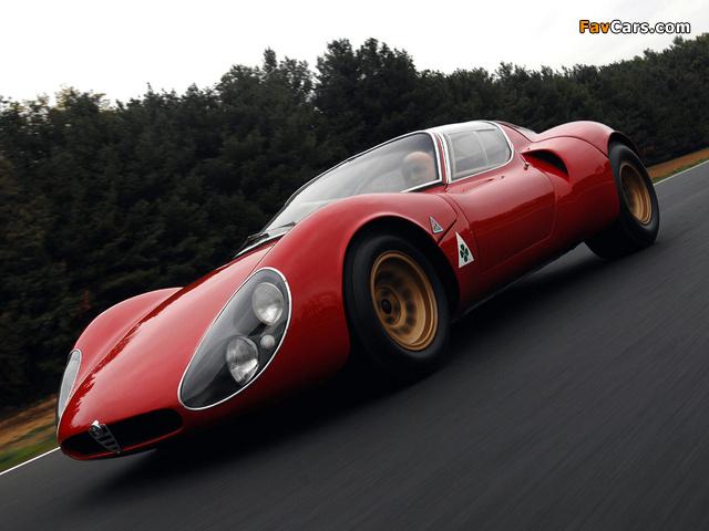 Alfa Romeo Tipo 33 Stradale Prototipo (1967) photos (640 x 480)