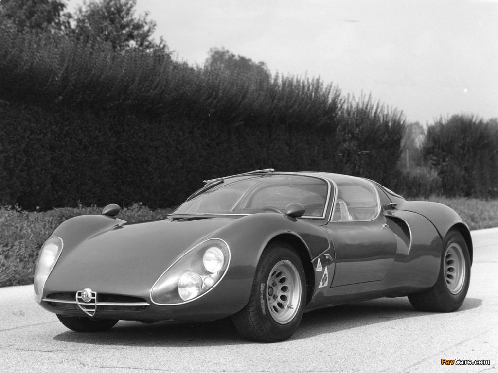 Alfa Romeo Tipo 33 Stradale Prototipo (1967) wallpapers (1024 x 768)