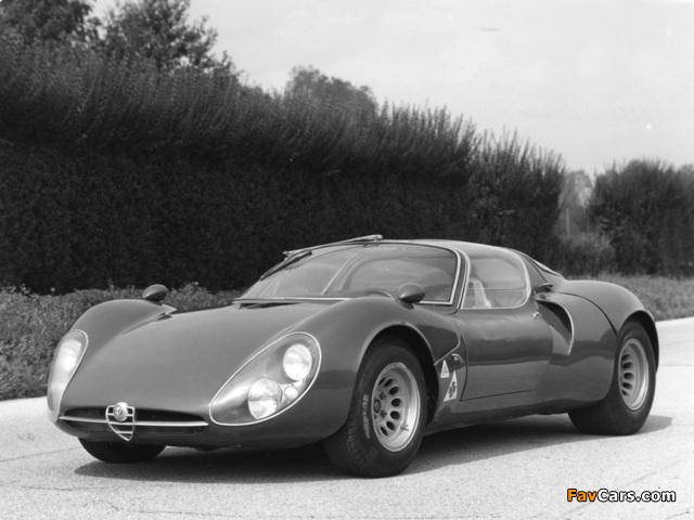 Alfa Romeo Tipo 33 Stradale Prototipo (1967) wallpapers (640 x 480)