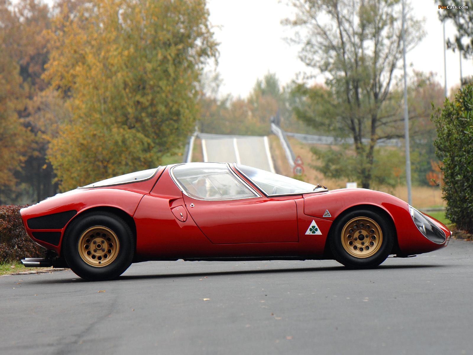 Images of Alfa Romeo Tipo 33 Stradale Prototipo (1967) (1600 x 1200)