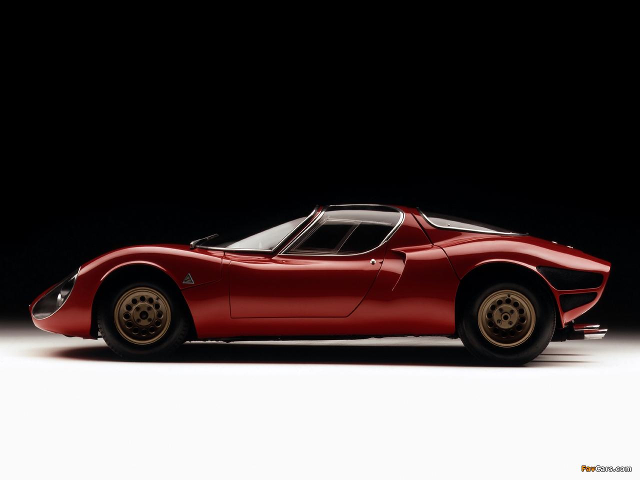 Images of Alfa Romeo Tipo 33 Stradale Prototipo (1967) (1280 x 960)