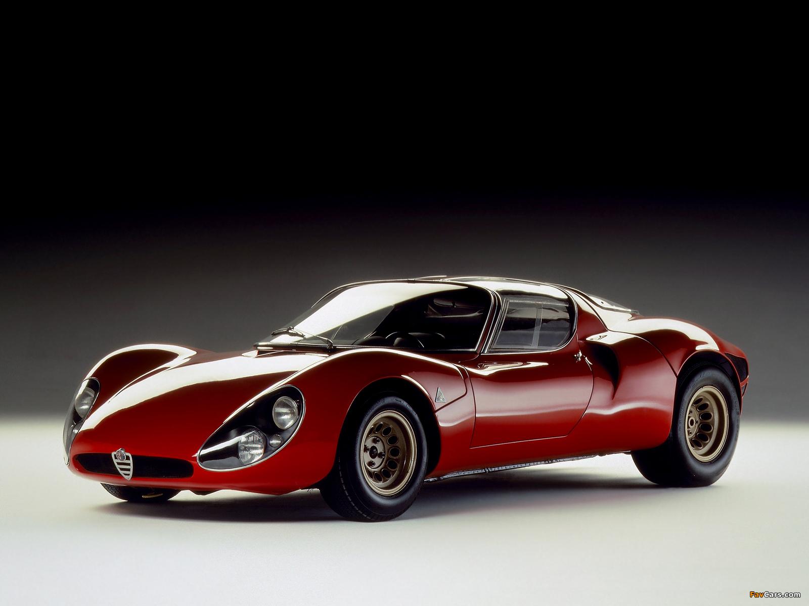Pictures of Alfa Romeo Tipo 33 Stradale Prototipo (1967) (1600 x 1200)