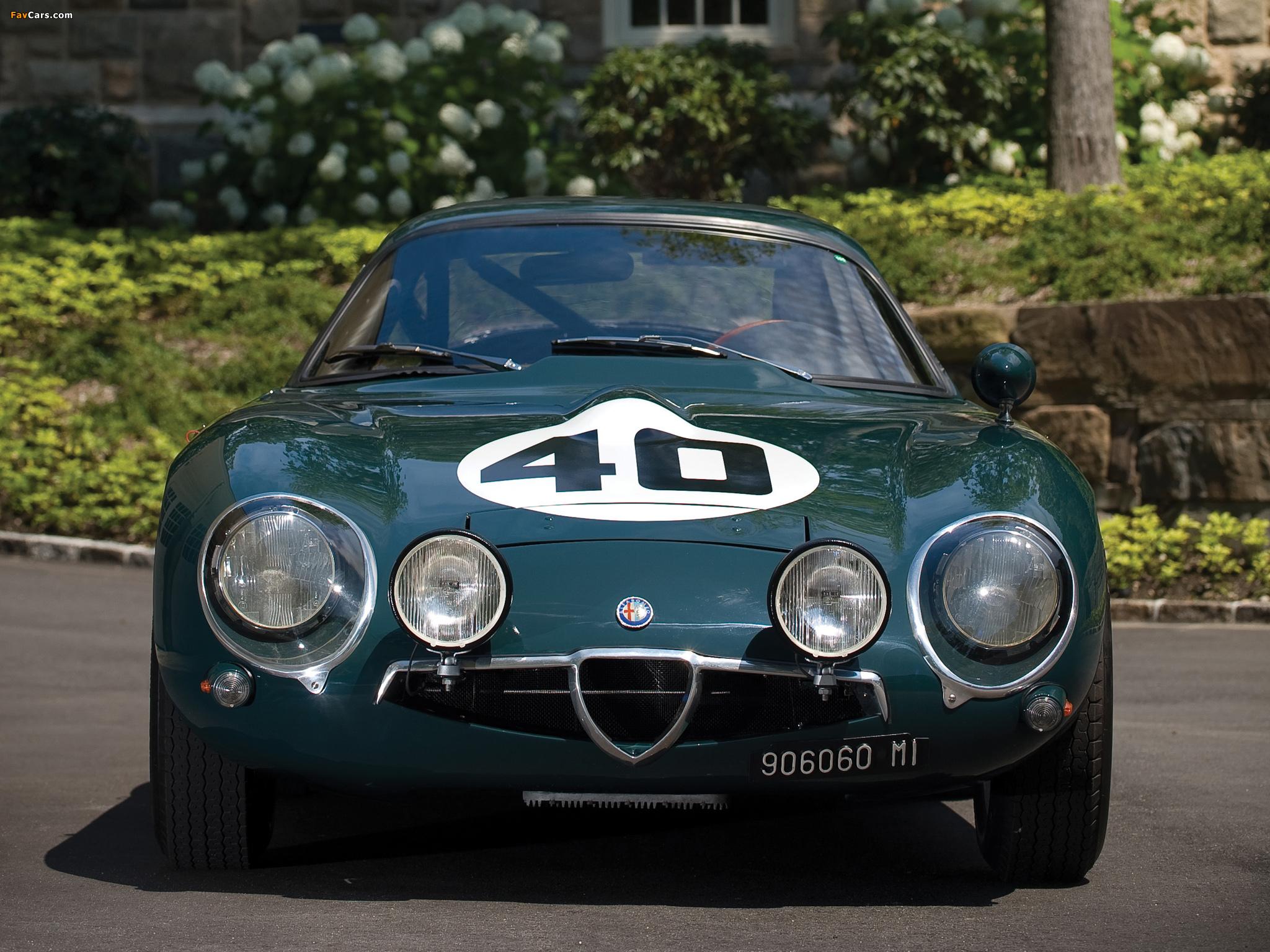 Alfa Romeo Giulia TZ 105 (1963–1967) photos (2048 x 1536)
