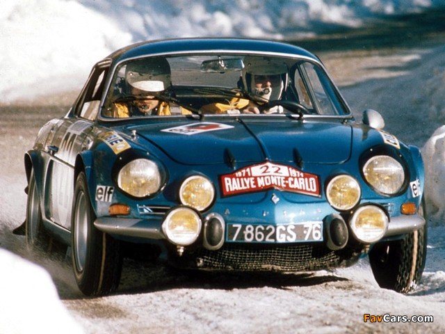 Images of Renault Alpine A110 Rally Car (640 x 480)