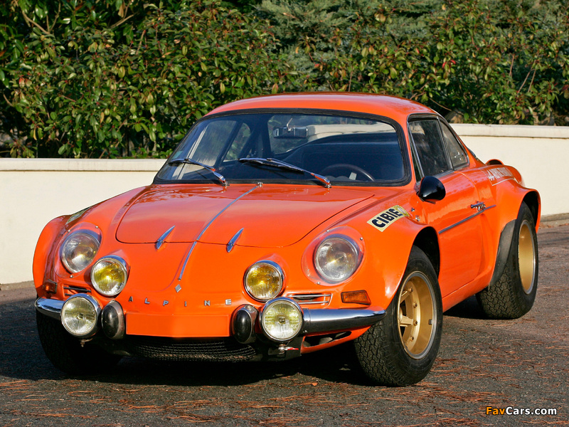 Photos of Renault Alpine A110 1600S Group 4 1970–75 (800 x 600)