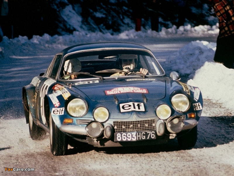 Photos of Renault Alpine A110 Rally Car (800 x 600)
