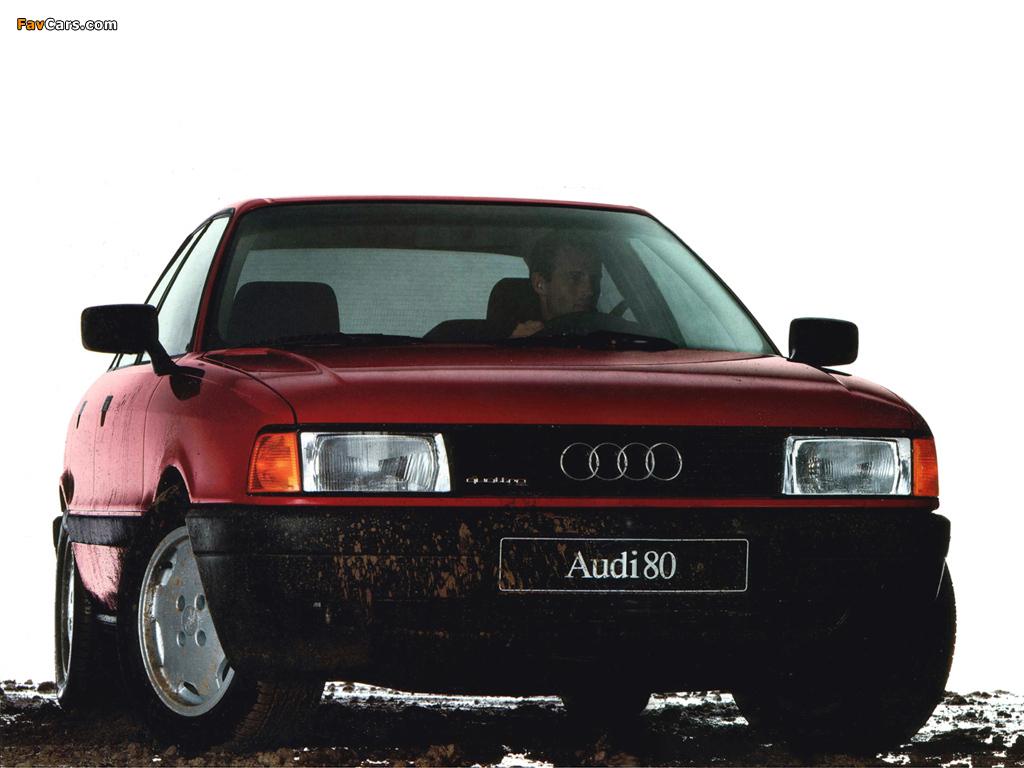 Audi 80 Quattro 8a B3 1986 1991 Wallpapers 1024x768