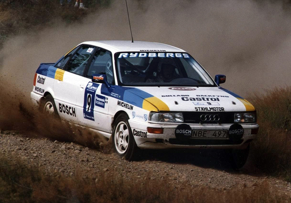 images of audi 90 quattro rally car b3 1988 1993. Black Bedroom Furniture Sets. Home Design Ideas