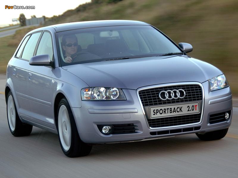 Audi A3 Sportback 2.0T ZA-spec 8PA (2005–2008) photos (800 x 600)