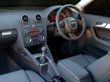 Audi A3 Sportback 2.0T ZA-spec 8PA (2005–2008) pictures