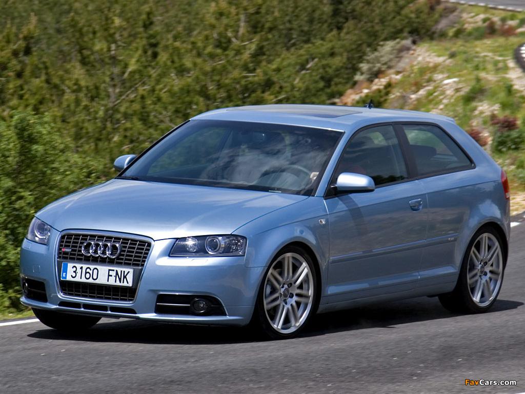 Audi A3 S Line 2003 >> Audi A3 1.8T S-Line 8P (2005–2008) wallpapers (1024x768)