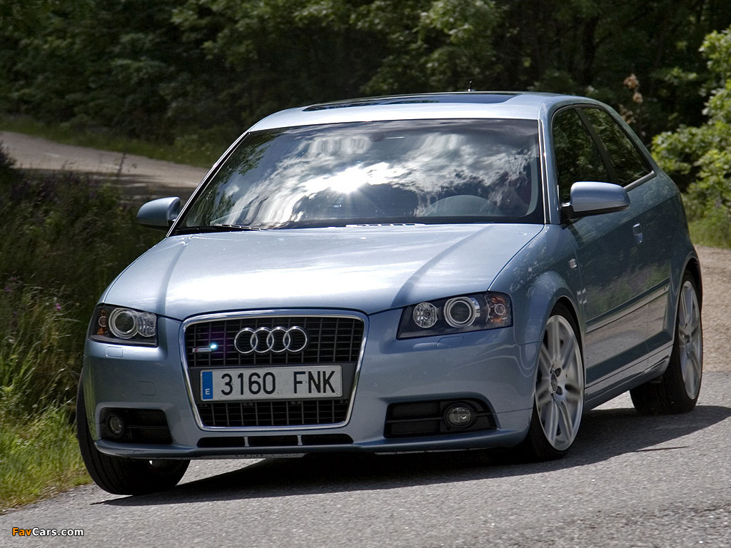 Audi A3 2008 >> Audi A3 1.8T S-Line 8P (2005–2008) wallpapers (1024x768)