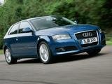 Audi A3 2.0T UK-spec 8P (2008–2010) images