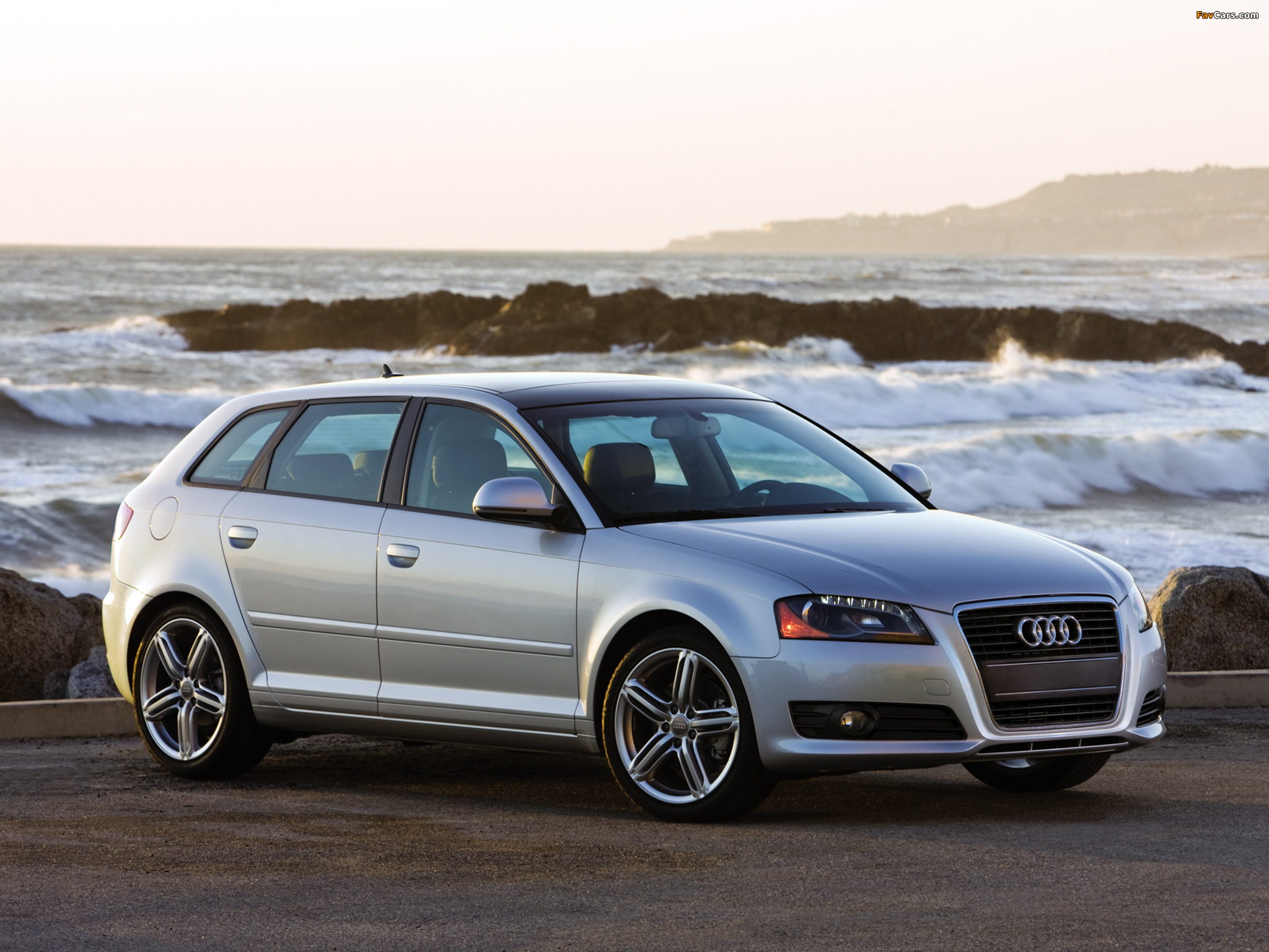 Audi a3 sportback 2 0t us spec 8pa 2008 2010 wallpapers for Dimensioni audi a3 sportback 2008