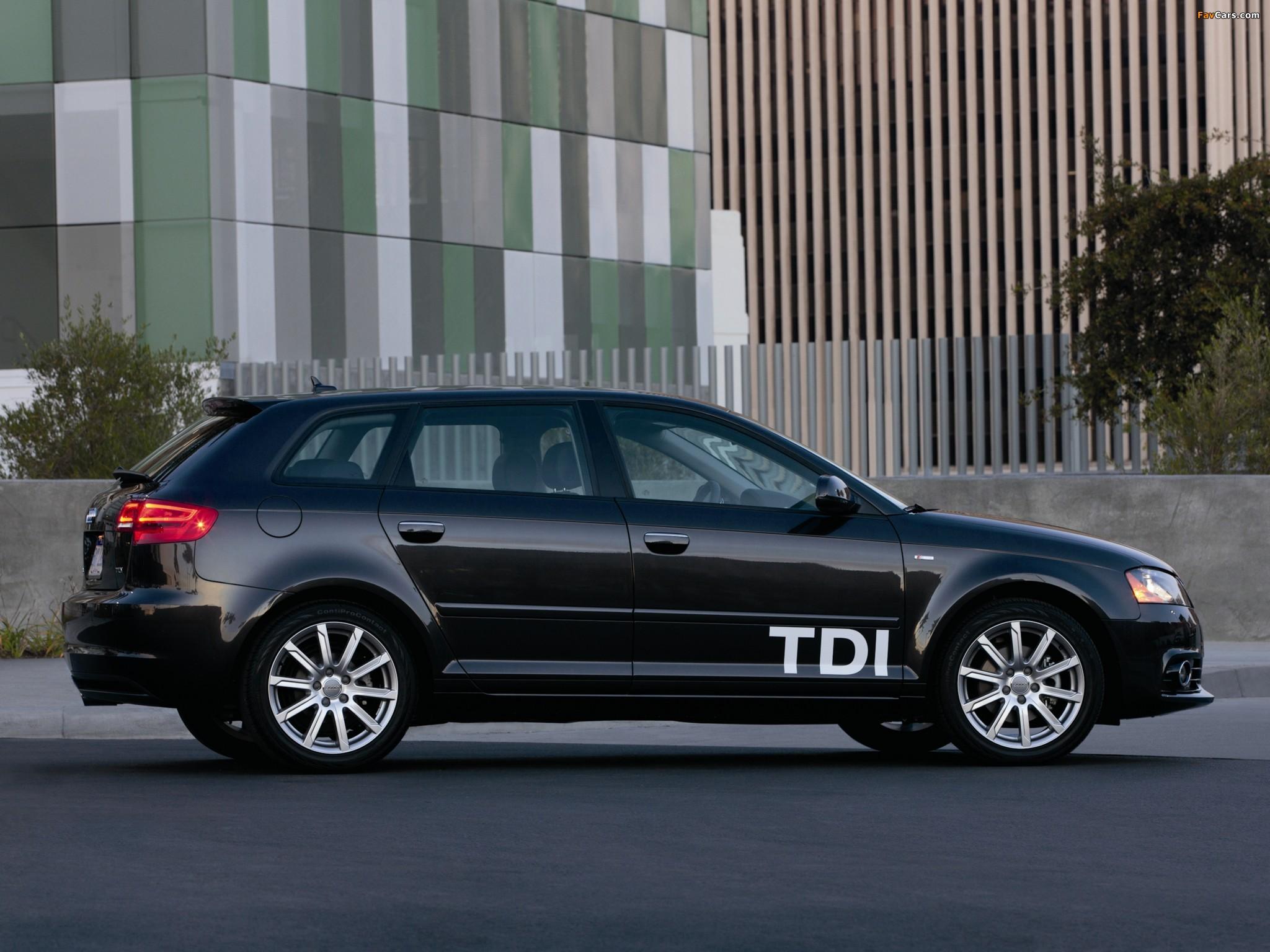 audi a3 sportback tdi clean diesel 8pa 2009 2010 images. Black Bedroom Furniture Sets. Home Design Ideas