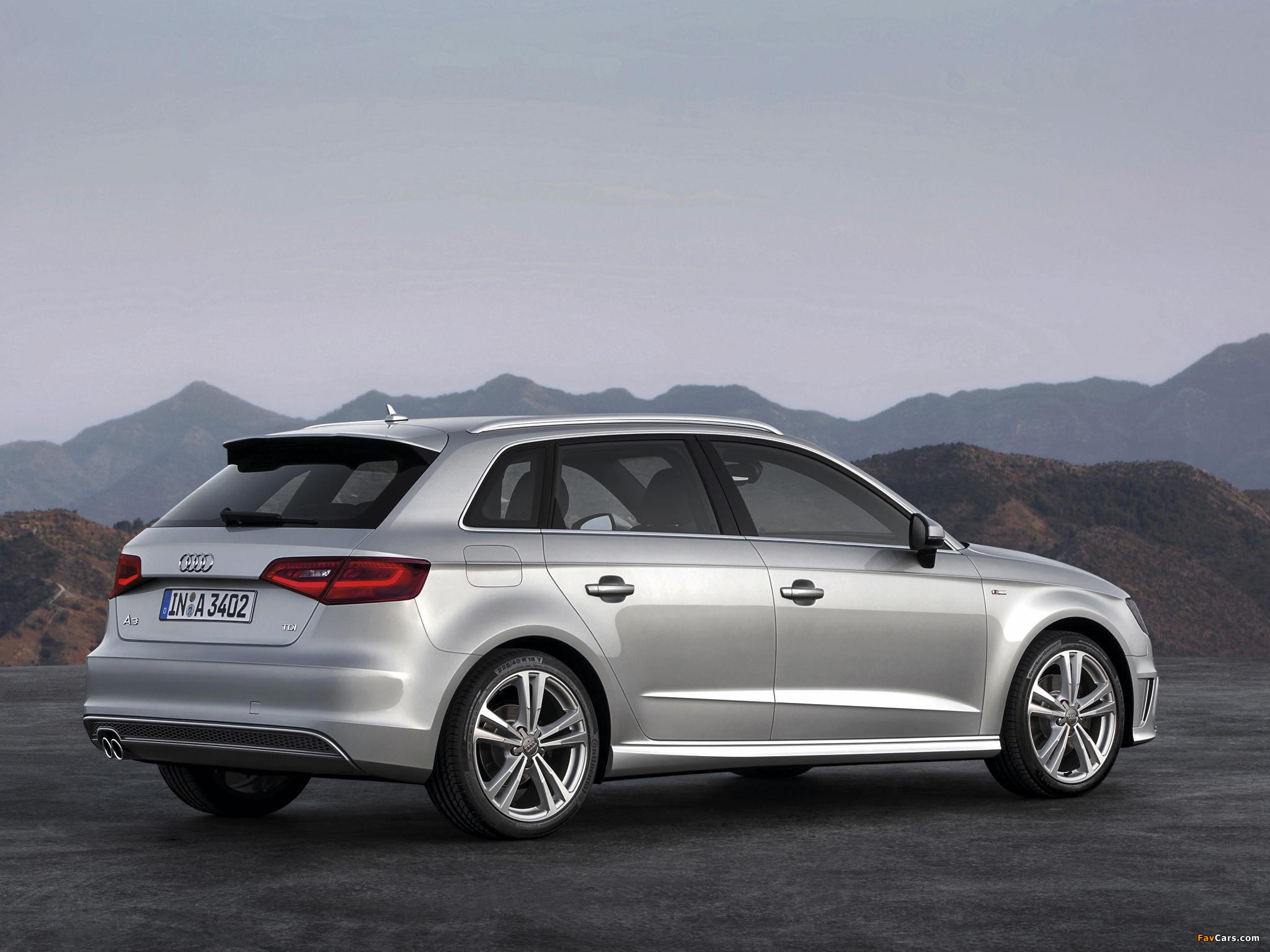 Audi A3 Sportback 2 0 Tdi S Line 8v 2012 Pictures