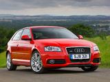 Images of Audi A3 2.0T S-Line UK-spec 8P (2008–2010)