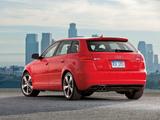 Images of Audi A3 Sportback 2.0T S-Line US-spec 8PA (2008–2010)