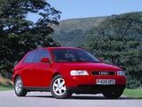 Photos of Audi A3 UK-spec 8L (1996–2000)