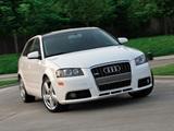 Photos of Audi A3 Sportback 3.2 S-Line US-spec 8PA (2005–2008)