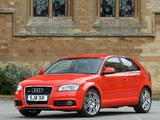 Photos of Audi A3 2.0T S-Line UK-spec 8P (2008–2010)