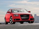 Photos of Audi A3 Sportback 2.0T S-Line US-spec 8PA (2008–2010)