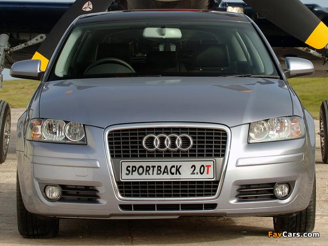 Audi A3 Sportback 2.0T ZA-spec 8PA (2005–2008) wallpapers (640 x 480)