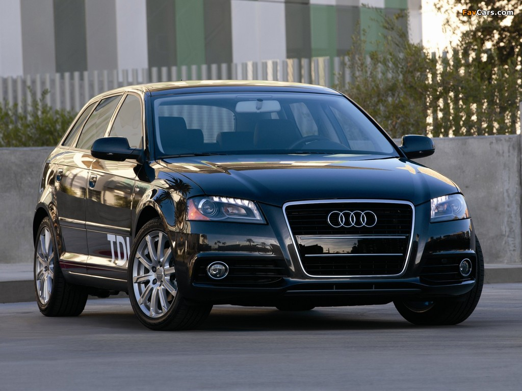 audi a3 sportback tdi clean diesel 8pa 2009 2010 wallpapers 1024x768. Black Bedroom Furniture Sets. Home Design Ideas