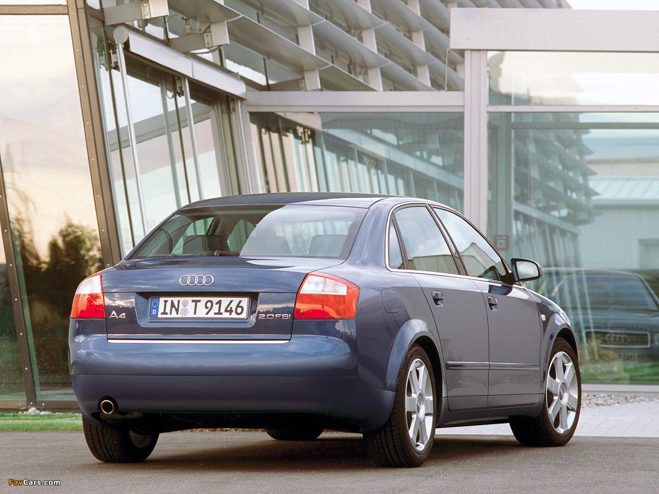 Audi A4 2 0 Fsi Sedan B6 8e 2000 2004 Photos 1280x960