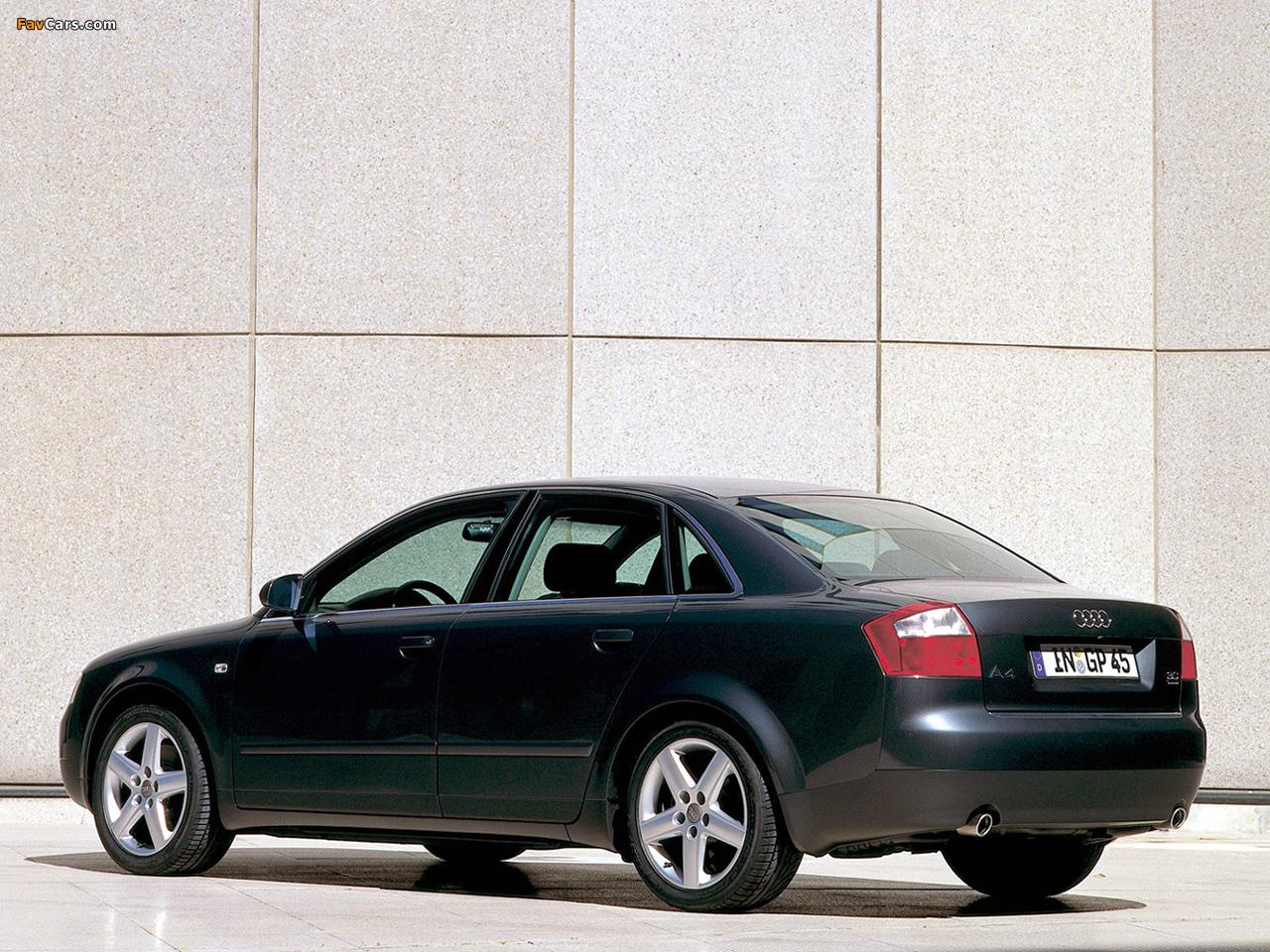Audi A4 3.0 quattro Sedan B6,8E (2000–2004) photos (1280 x 960)