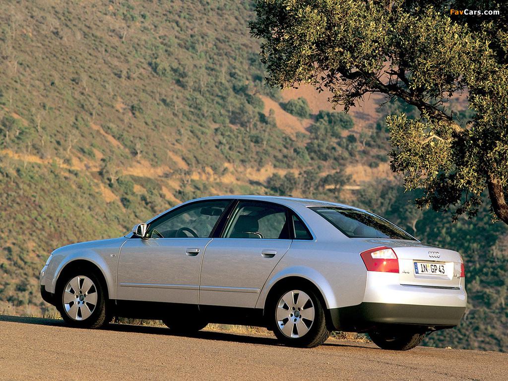 Audi A4 2.5 TDI quattro Sedan B6,8E (2000–2004) pictures (1024x768)