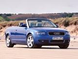 Audi A4 2.4 Cabrio UK-spec B6,8H (2001–2005) images