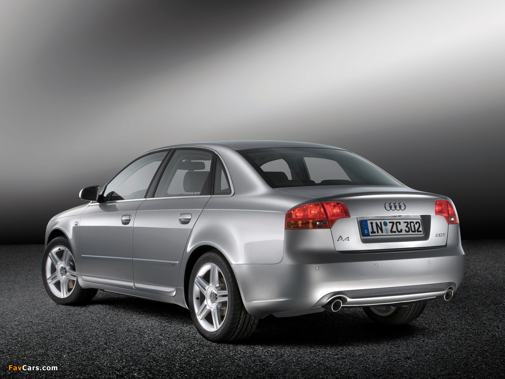 Audi A4 2 0t S Line Sedan B7 8e 2004 2007 Images 1024x768