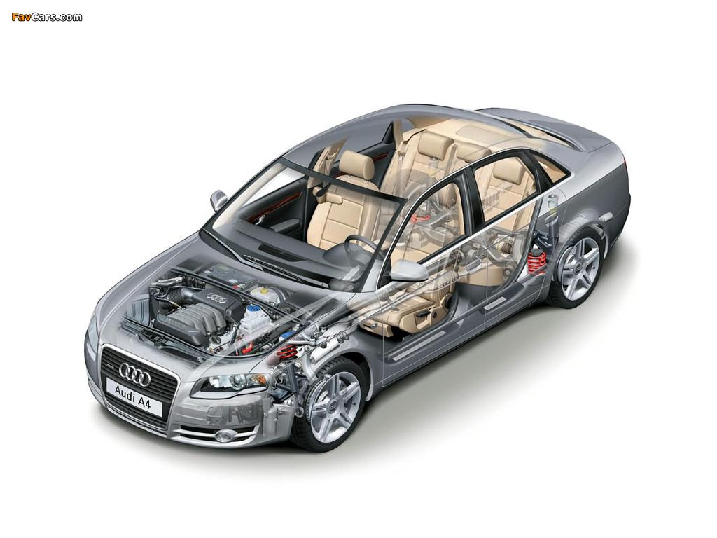 Audi A4 2 0t >> Audi A4 2.0T Sedan B7,8E (2004–2007) photos (1024x768)