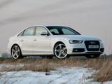 Images of Audi A4 2.0T quattro S-Line Sedan UK-spec (B8,8K) 2012
