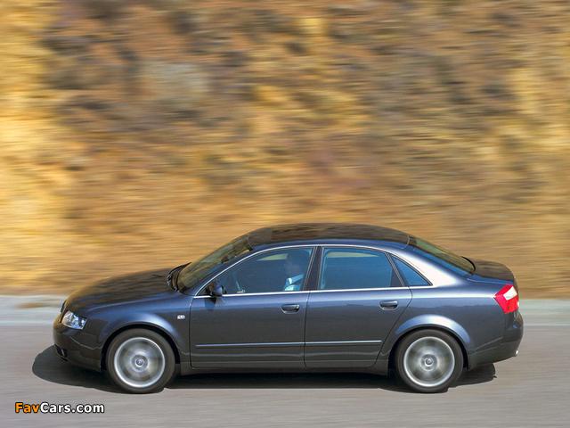 Photos of Audi A4 3.0 quattro Sedan B6,8E (2000–2004) (640 x 480)