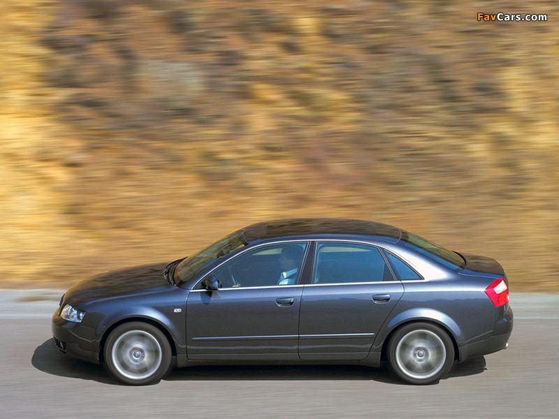 Photos of Audi A4 3.0 quattro Sedan B6,8E (2000–2004) (800 x 600)