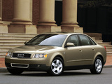 Photos of Audi A4 Sedan US-spec B6,8E (2000–2004)