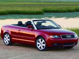 Photos of Audi A4 Cabrio US-spec B6,8H (2001–2005)