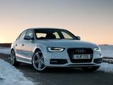 Photos of Audi A4 2.0T quattro S-Line Sedan UK-spec (B8,8K) 2012