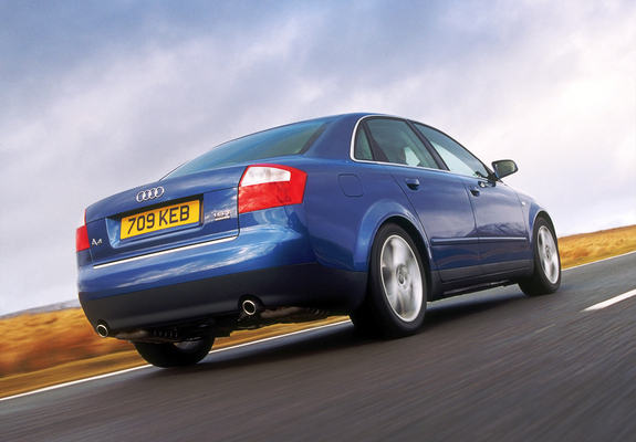 Pictures of Audi A4 1.8T quattro Sedan UK-spec B6,8E (2000–2004)