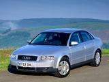 Pictures of Audi A4 2.0 FSI Sedan UK-spec B6,8E (2000–2004)